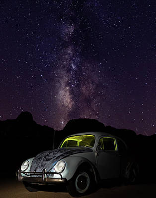 Classic Vw Bug Under The Milky Way Poster