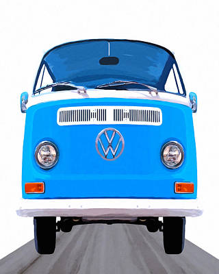 Classic Vw Van - On The Road Again Poster