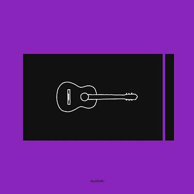 Classical Guitar In Purple Poster by David Bridburg