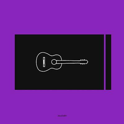 Classical Guitar In Purple Poster