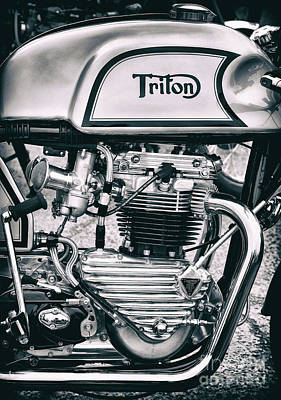 Classical Triton Cafe Racer Motorcycle Poster by Tim Gainey
