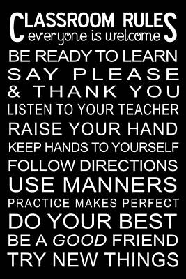 Classroom Rules Poster Poster