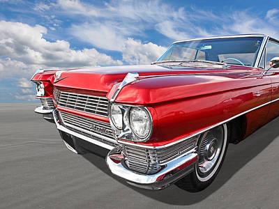 Classy - '64 Cadillac Poster by Gill Billington