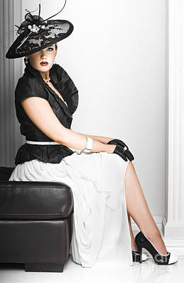 Classy Lady In Elegant Fashion Poster by Jorgo Photography - Wall Art Gallery