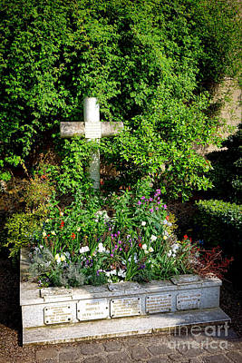 Claude Monet Grave In Giverny Poster by Olivier Le Queinec