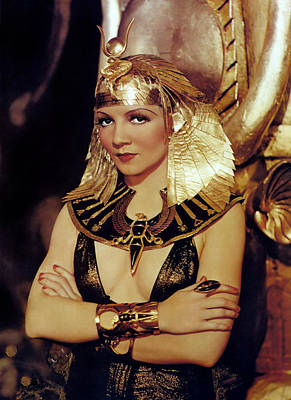 Claudette Colbert In Cleopatra 1934 Poster by Mountain Dreams