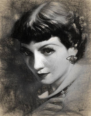 Claudette Colbert Poster by Quim Abella