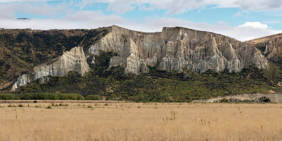Poster featuring the photograph Clay Cliffs Omarama by Gary Eason