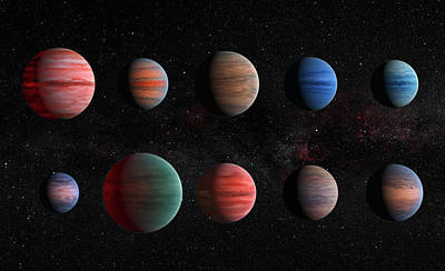 Clear To Cloudy Hot Jupiters Poster by Mark Kiver