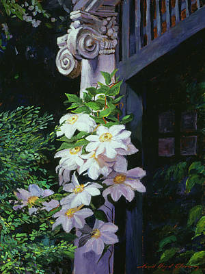 Clematis Blossoms Poster by David Lloyd Glover