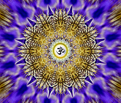Clematis Om Mandala Poster by Richard Copeland