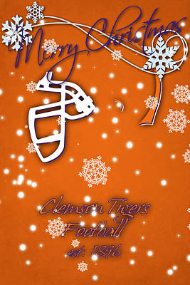 Clemson Tigers Christmas Card Poster