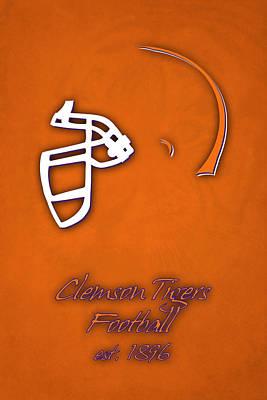 Clemson Tigers Helmet Poster