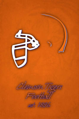 Clemson Tigers Helmet Poster by Joe Hamilton
