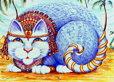 Poster featuring the drawing Cleocatra by Dee Davis