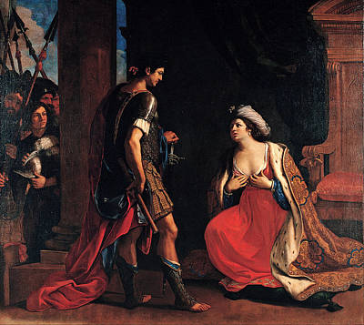 Cleopatra And Octavian Poster by Guercino