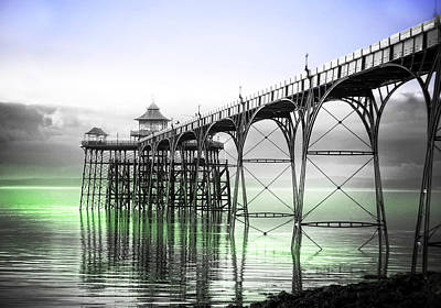 Clevedon Pier Poster by Alex Hardie