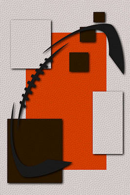 Cleveland Browns Football Art Poster by Joe Hamilton