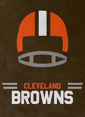 Cleveland Browns Vintage Art Poster