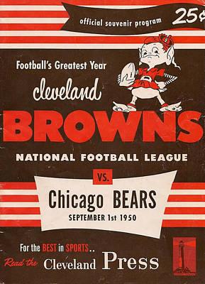 Cleveland Browns Vintage Program 5 Poster