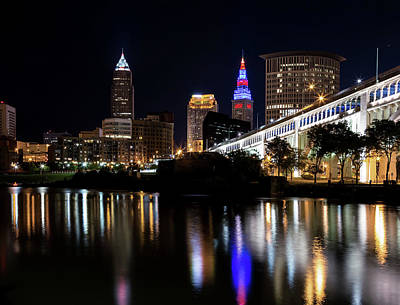 Poster featuring the photograph Cleveland In The World Series 2016 by Dale Kincaid