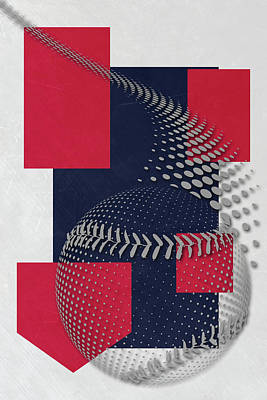 Cleveland Indians Art Poster by Joe Hamilton