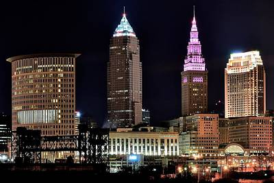 Cleveland Nightscape Poster
