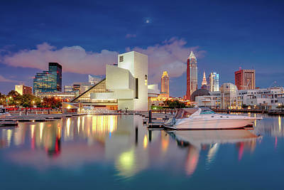 Poster featuring the photograph Cleveland Ohio 2  by Emmanuel Panagiotakis