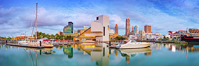 Poster featuring the photograph Cleveland  Pano 1  by Emmanuel Panagiotakis
