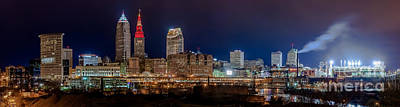 Cleveland Panoramic  Poster by Frank  Cramer