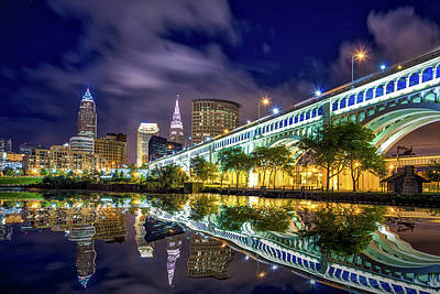 Poster featuring the photograph Cleveland Skyline 4 by Emmanuel Panagiotakis