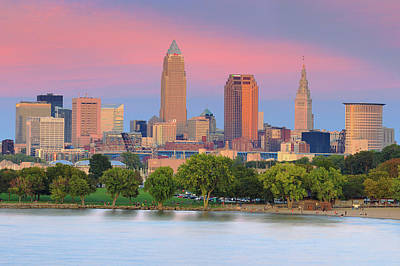 Poster featuring the photograph Cleveland Skyline 6 by Emmanuel Panagiotakis
