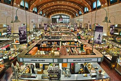 Clevelands Famed Westside Market Poster by Frozen in Time Fine Art Photography