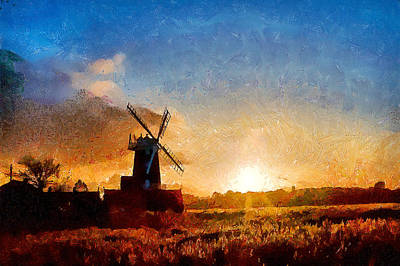 Cley Windmill  I Poster by Gareth Davies