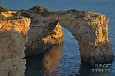 Cliff Arch In Albandeira Beach During Sunset 2 Poster