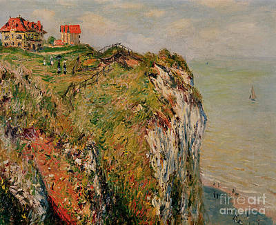 Cliff At Dieppe Poster by Claude Monet