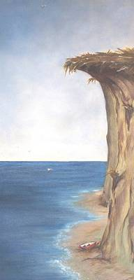 Poster featuring the painting Cliff by Diane Daigle
