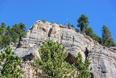 Cliff Face In South Piney Canyon Poster by Jess Kraft