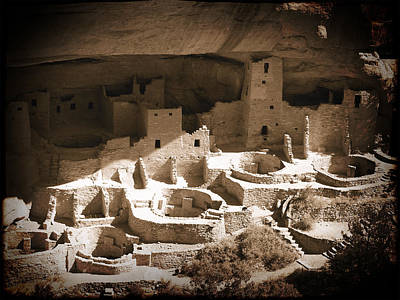 Poster featuring the photograph Cliff Palace Mesa Verde by Kurt Van Wagner