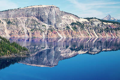 Poster featuring the photograph Cliff Rim Of Crater Lake by Frank Wilson