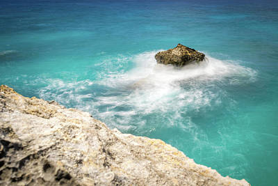 Cliff Views In Negril Poster