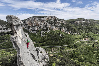 Climbing At The Tre Frati Poster