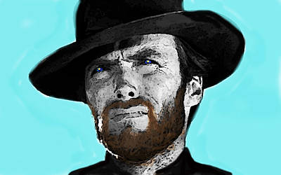 Clint Eastwood 1  Poster by Enki Art