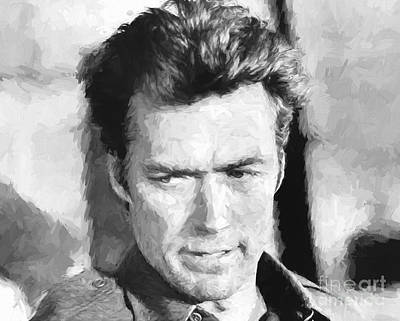 Clint Eastwood In Kelly's Heroes Poster