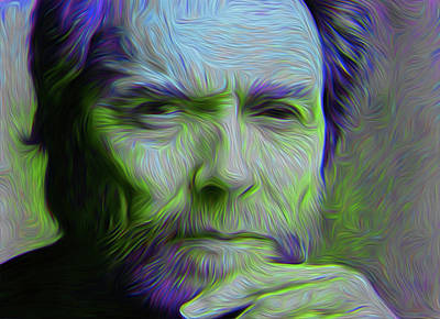 Clint Eastwood Nixo Poster by Nicholas Nixo