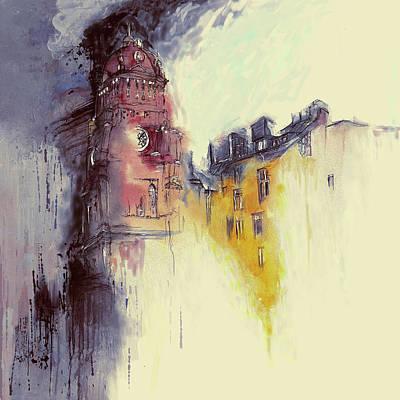 Clock Tower II Poster by Mawra Tahreem