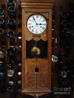 Clock Wine Rack Poster by Valia Bradshaw