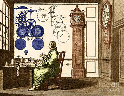 Clockmaker Poster by Photo Researchers