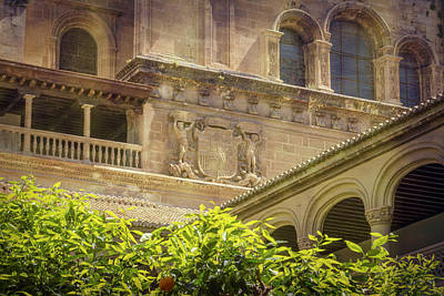 Cloister Angles Poster by Joan Carroll