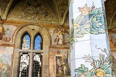 cloister of St. Chiara deyail Poster
